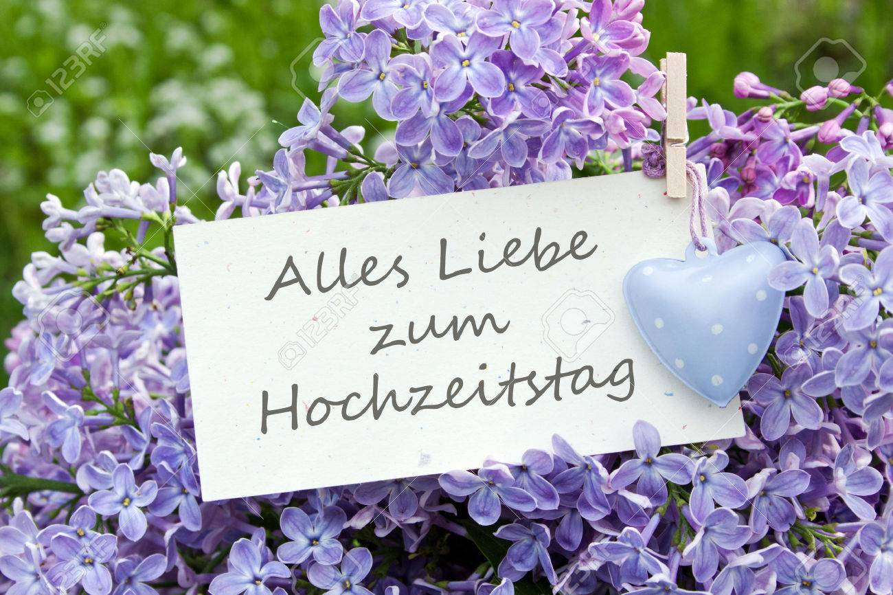 german wedding anniversary card with lilac stock photo, picture Wedding Greetings In German german wedding anniversary card with lilac stock photo 28264403 wedding greetings in german