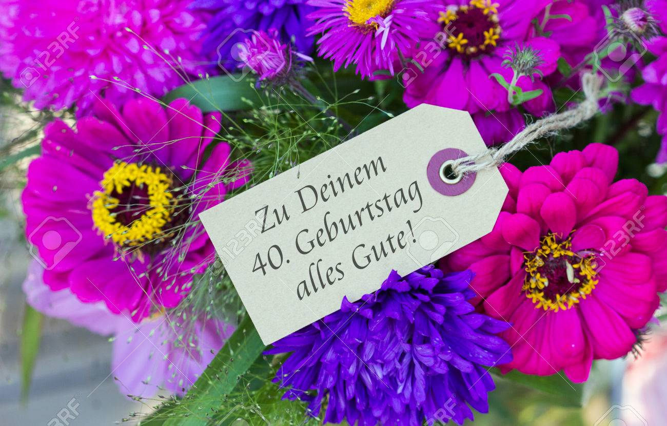 German Birthday Card With Summer Flowers Photo Picture And – Birthday Card in German