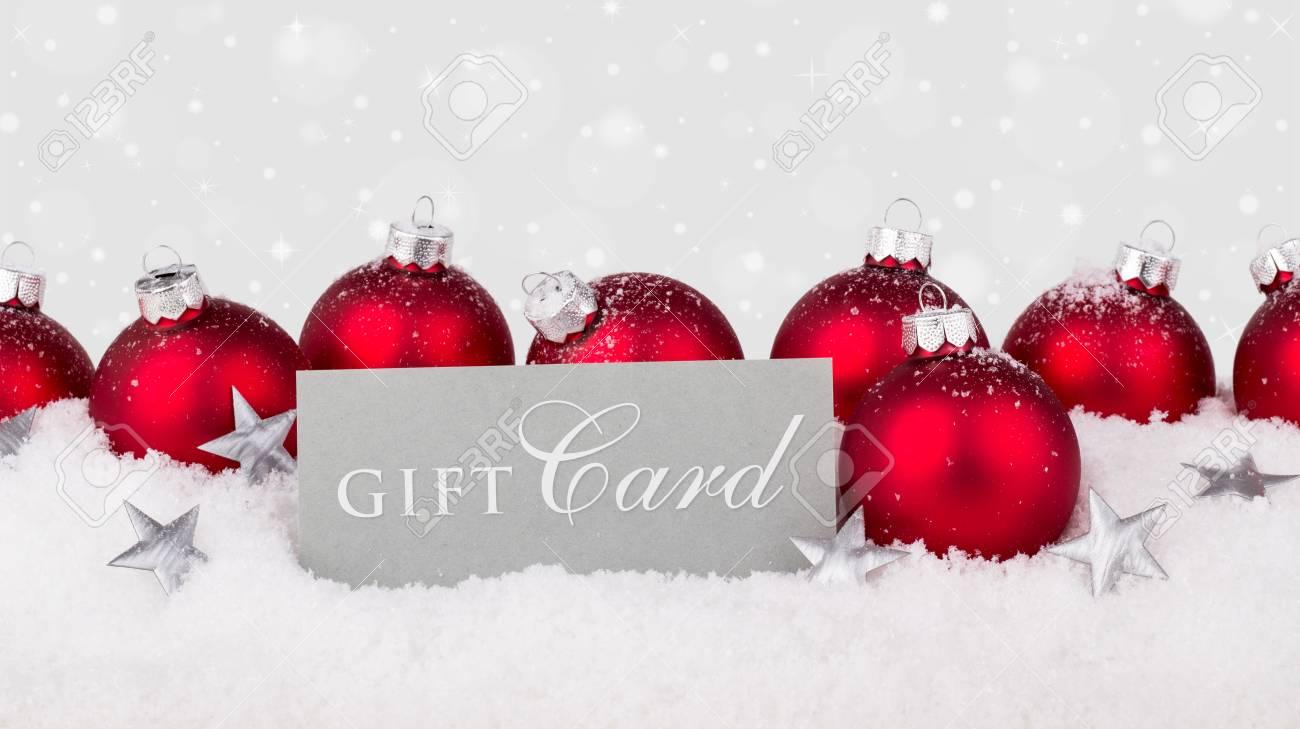 Carte Cadeau En Anglais.Anglais Carte Cadeau De Rouge Boules De Noel