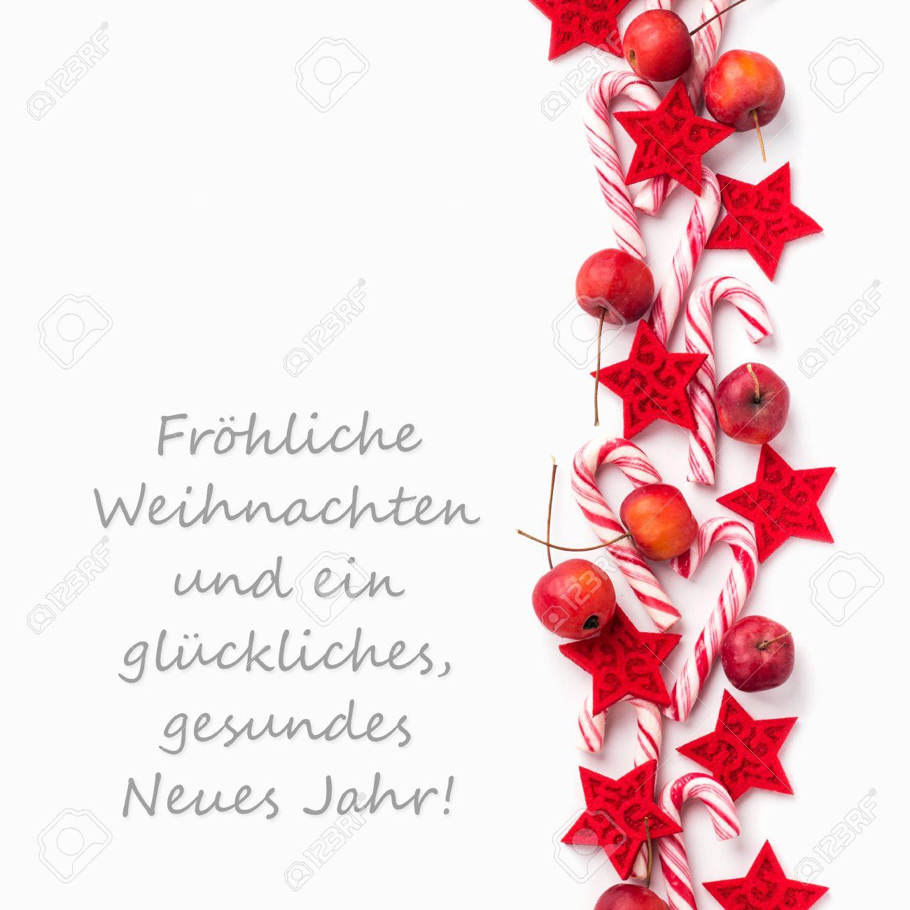 Text Frohe Weihnachten.Stock Photo