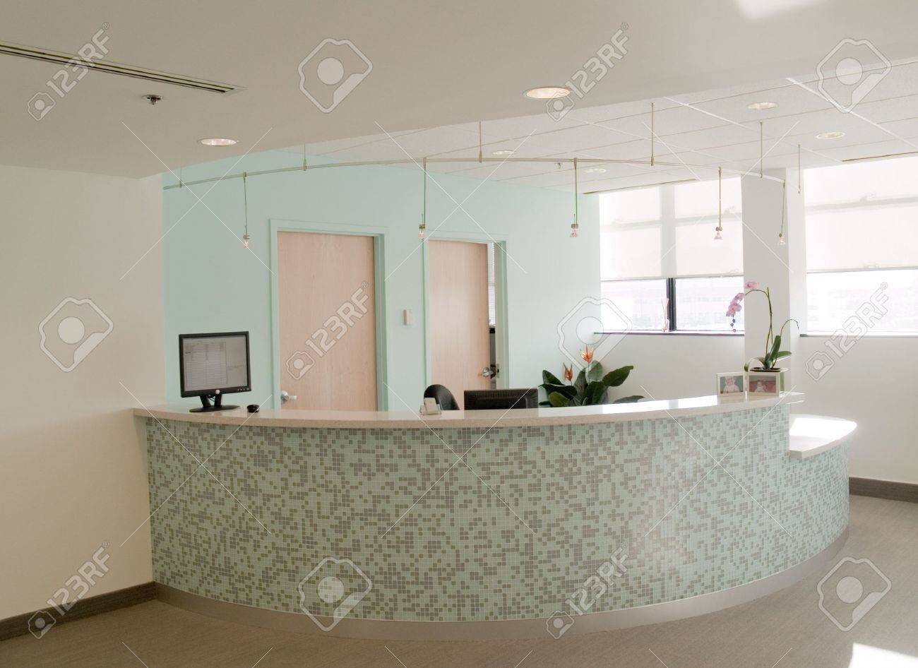 Reception desk in a medical office Stock Photo - 744763