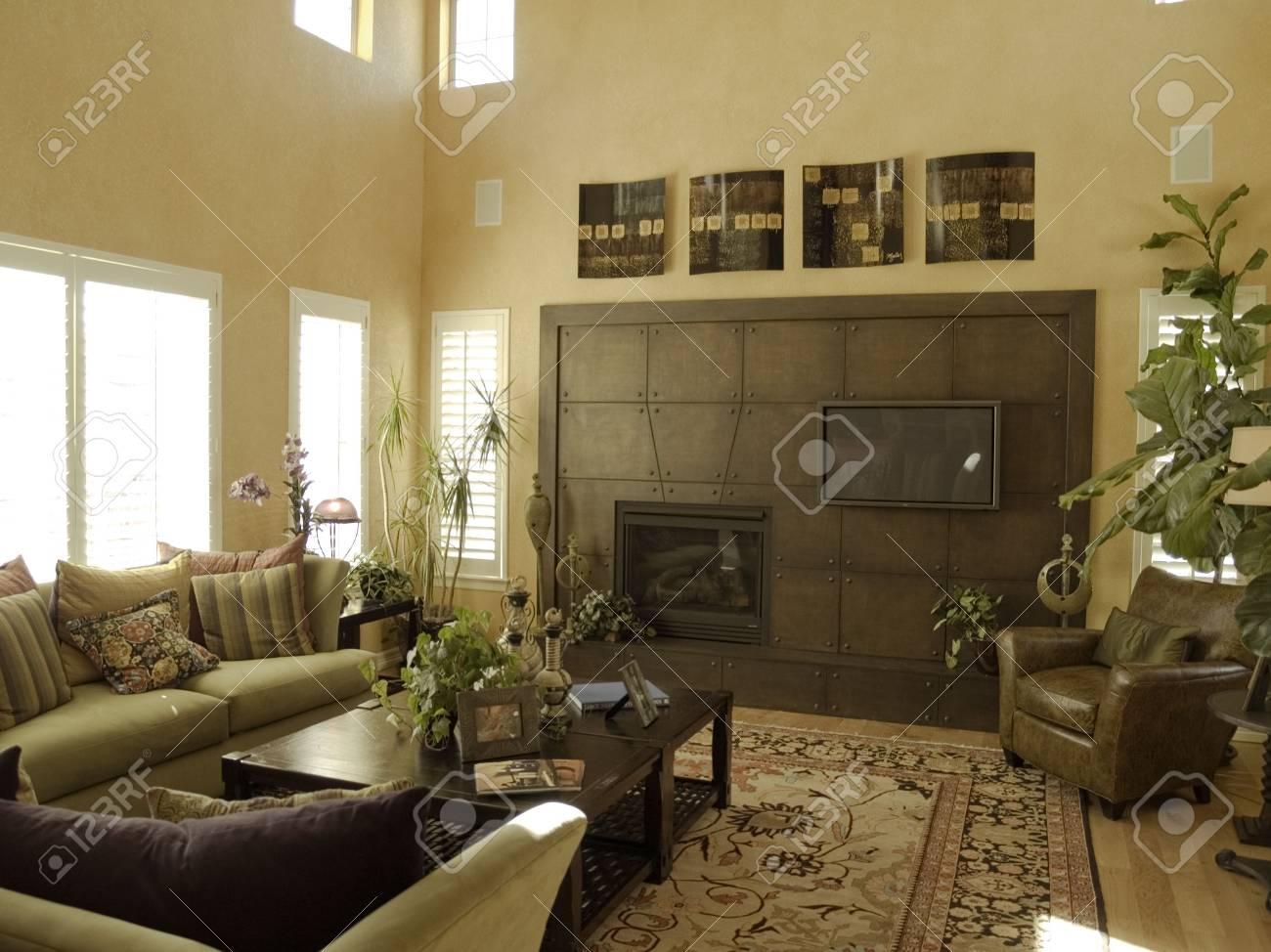 Luxus Wohnzimmer Mit Kamin Ungewohnliche Lizenzfreie Fotos Bilder Und Stock Fotografie Image 913017