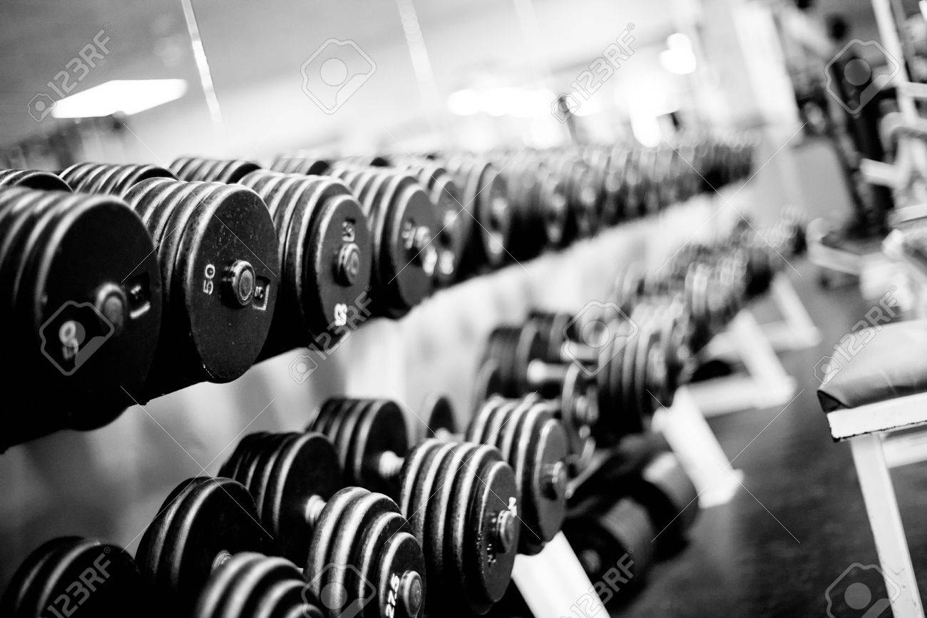 Weights And Free Weights In A Gym Stock Photo Picture And Royalty Free Image Image 4654132