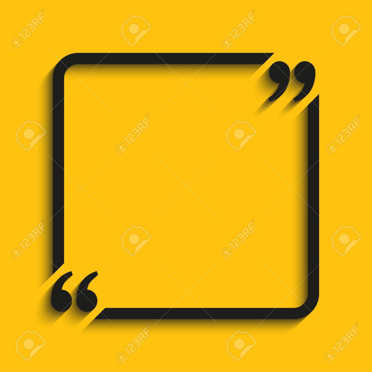 Citation Blank Template Quote Square Modèle Vide Papier Cartes De Visite Coeur Feuille D Information Texte Print Form Design Citation Support