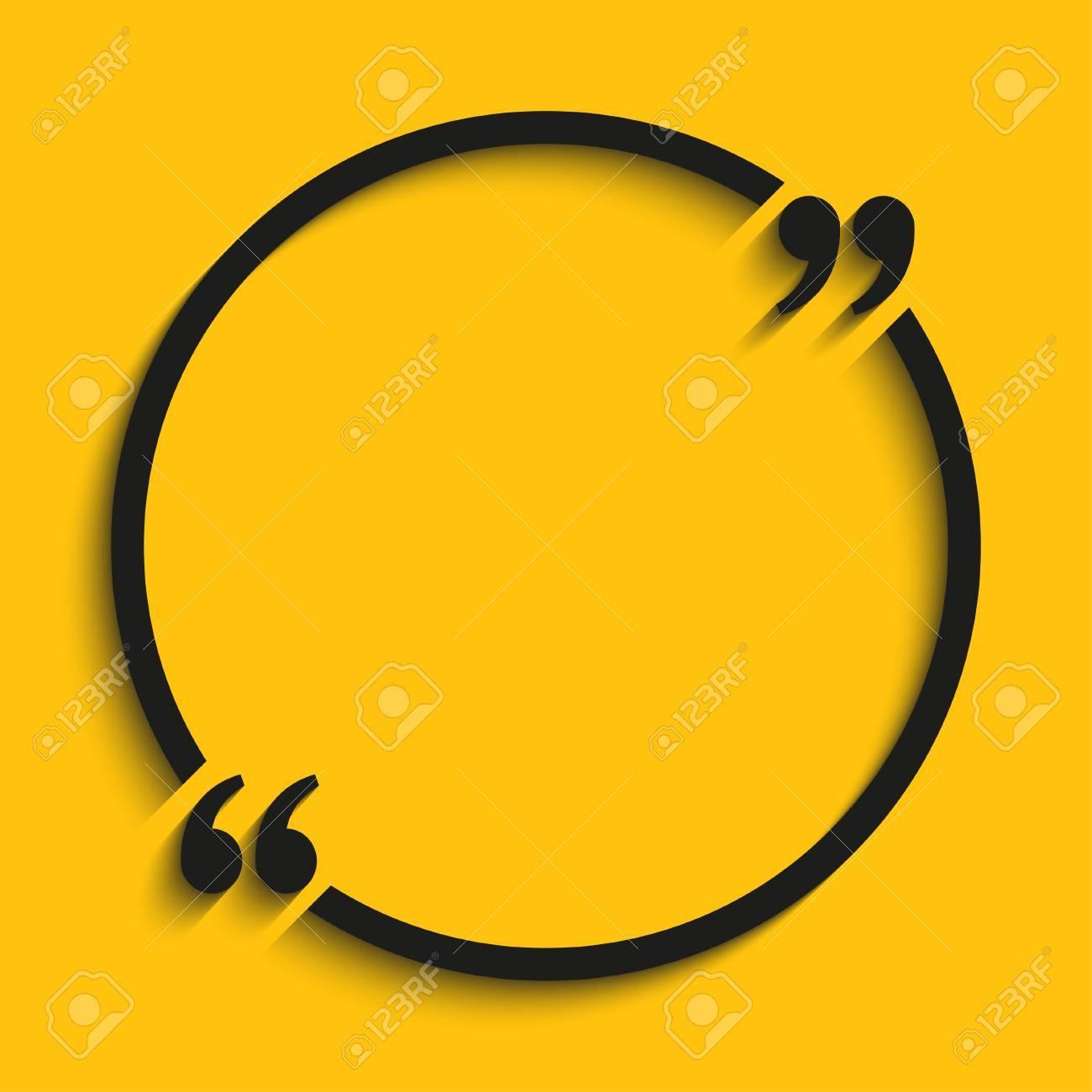 Citation Blank Template Citation Circle Modèle Vide Cartes De Visite Coeur Papier Feuille D Information Texte Design D Impression Formulaire De