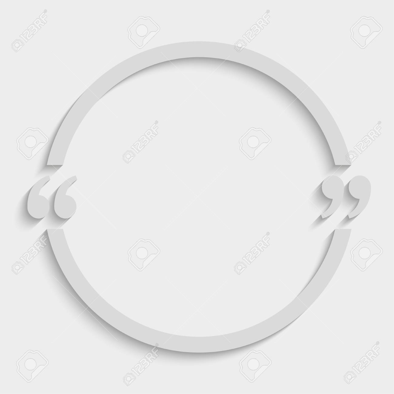 vector quote circle blank template bracket royalty free cliparts