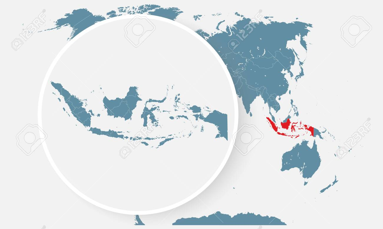 indonesia country in the world map vector isolated on background royalty free cliparts vectors and stock illustration image 142117650 indonesia country in the world map vector isolated on background