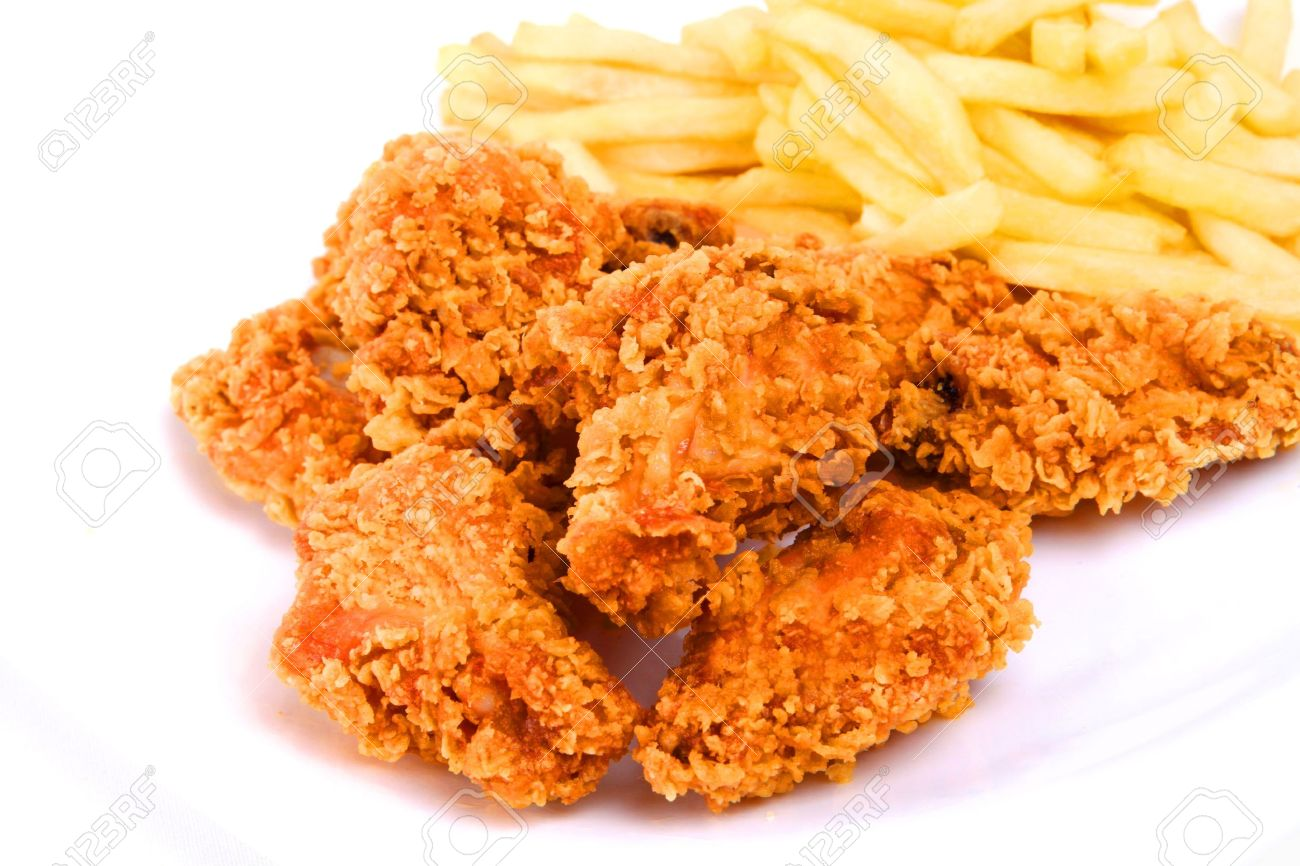 chicken and fries Stock Photo - 7903814