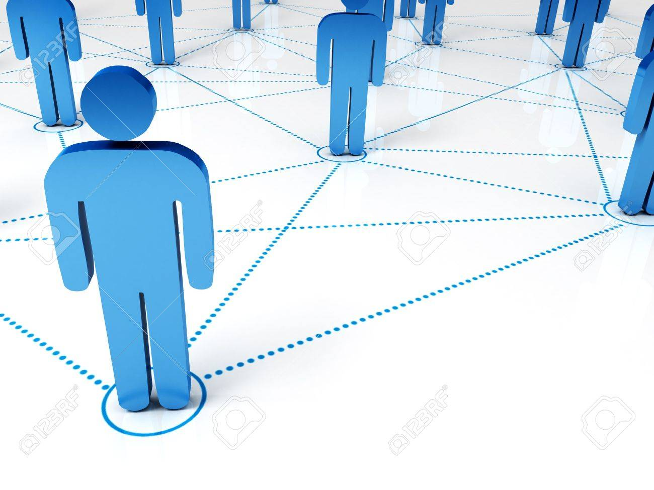 3d render of connected people symbols Stock Photo - 7975852