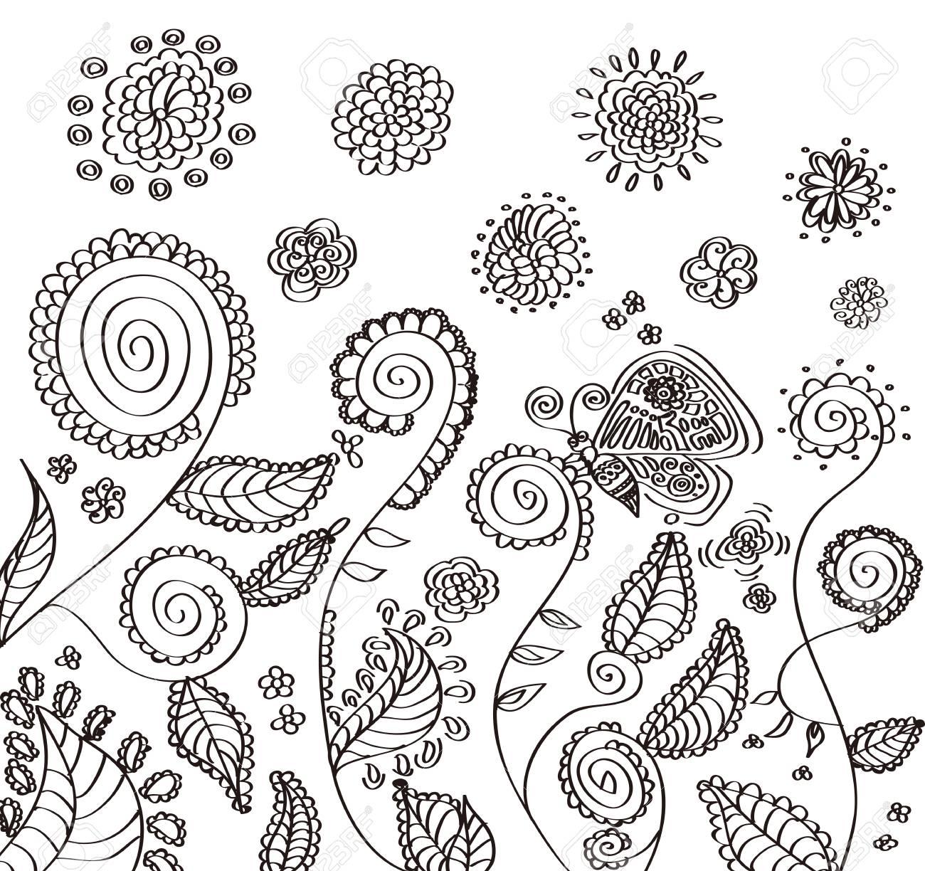 手書きの花のイラストです のイラスト素材 ベクタ Image