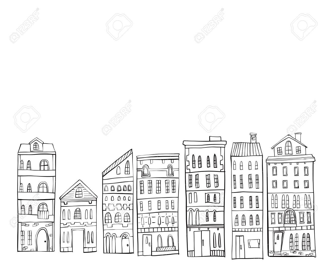 ヨーロッパ 街並み イラスト