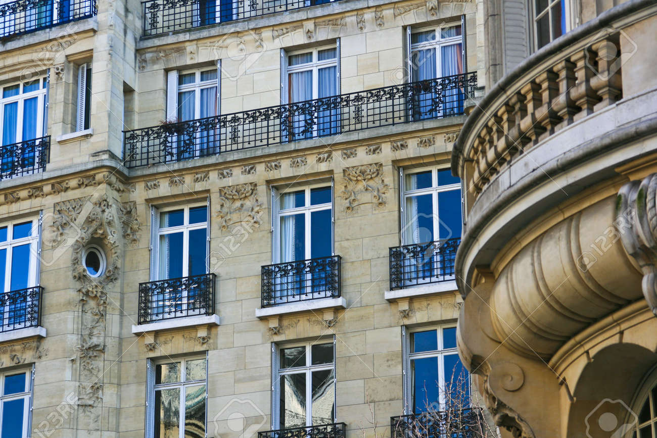 Classic And Beautiful French Apartments Stock Photo   6502116