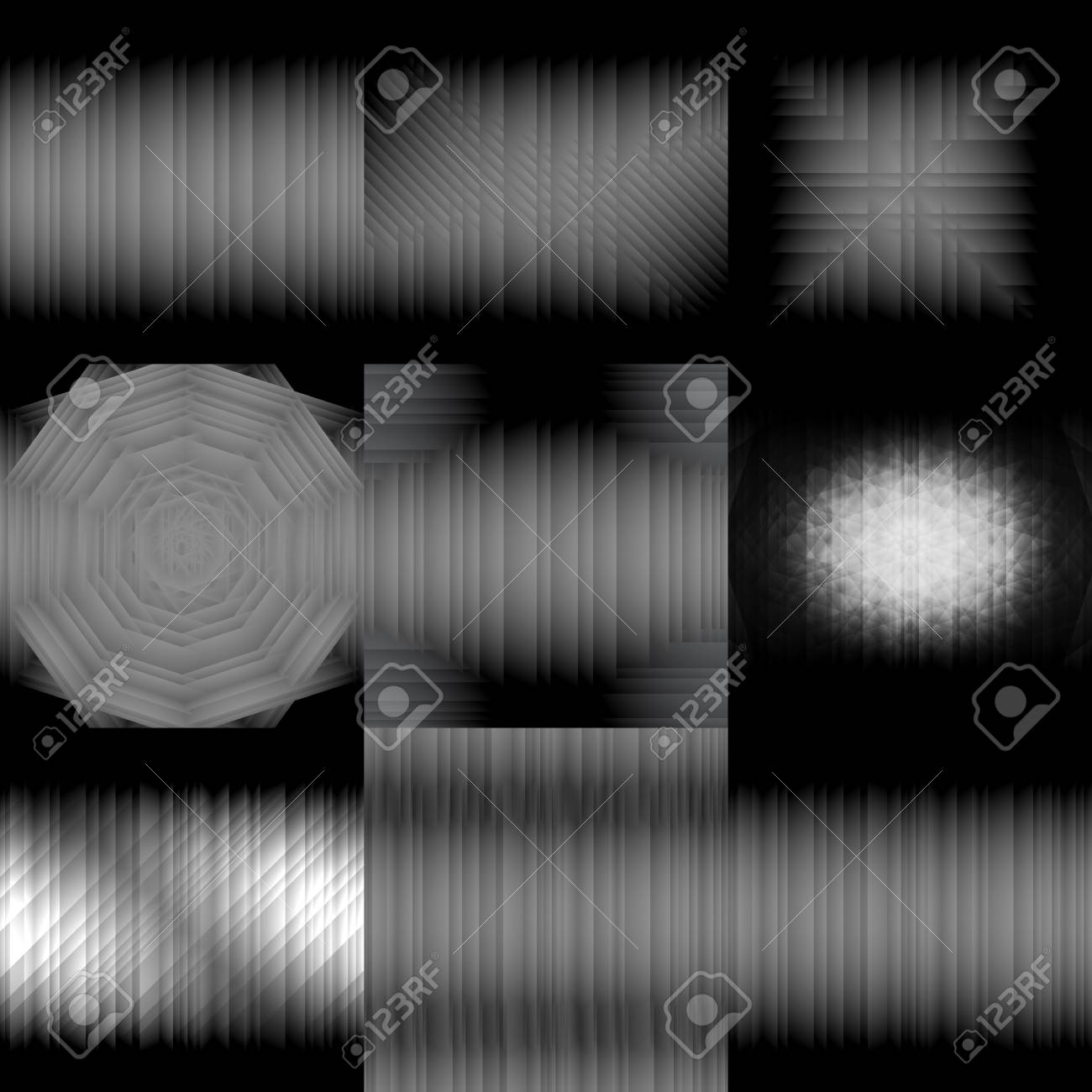 Set Of Gradient Backgrounds Gray Scale Vector Illustration