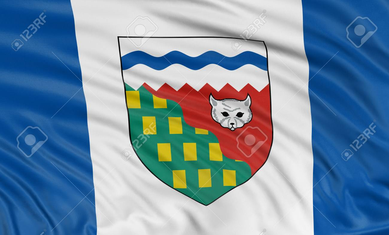 3D Northwest Territories  Flag Stock Photo - 23005951