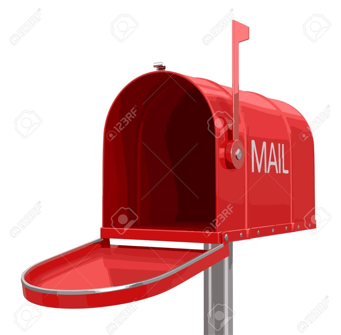 open mailbox. Open Mailbox Stock Vector - 52185174