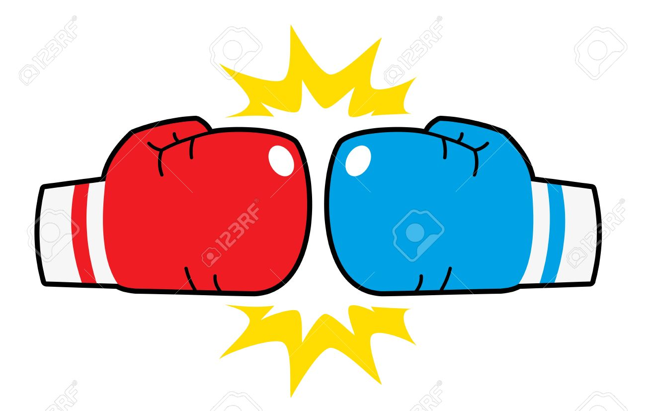 boxing gloves hit red and blue royalty free cliparts vectors and rh 123rf com boxing gloves clip art images boxing gloves clipart black and white
