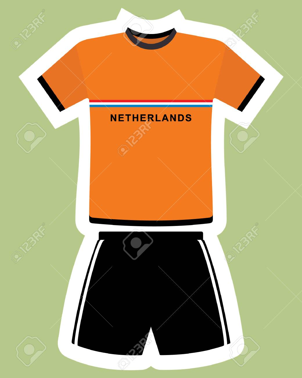 df865a27f Abstract netherlands football jersey. Stock Vector - 85878871