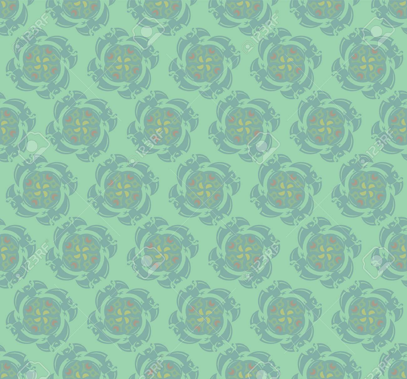 Resume Motif De Papier Peint Vert