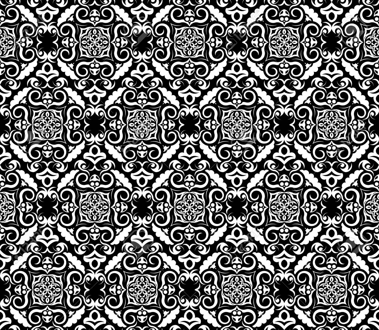 Abstract Black And White Wallpaper Seamless Pattern