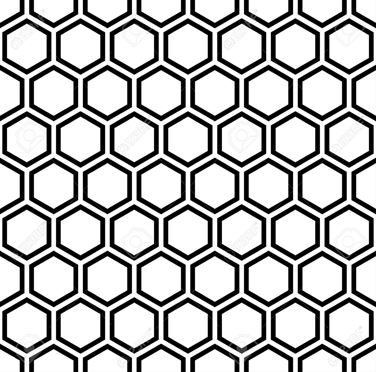 Hexagon Pattern Vector Magnificent Decorating