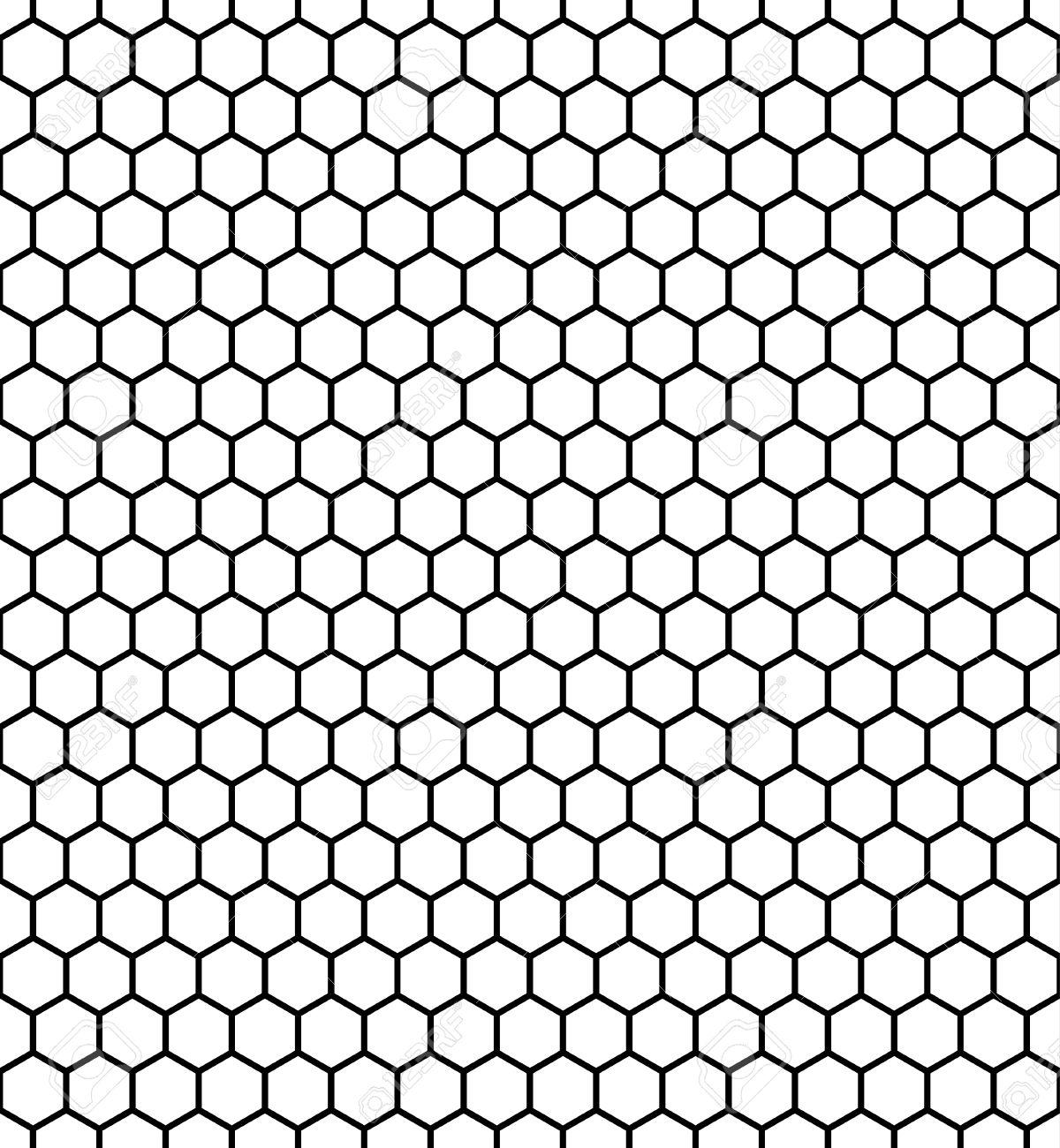 Hexagon Pattern Vector Unique Decoration