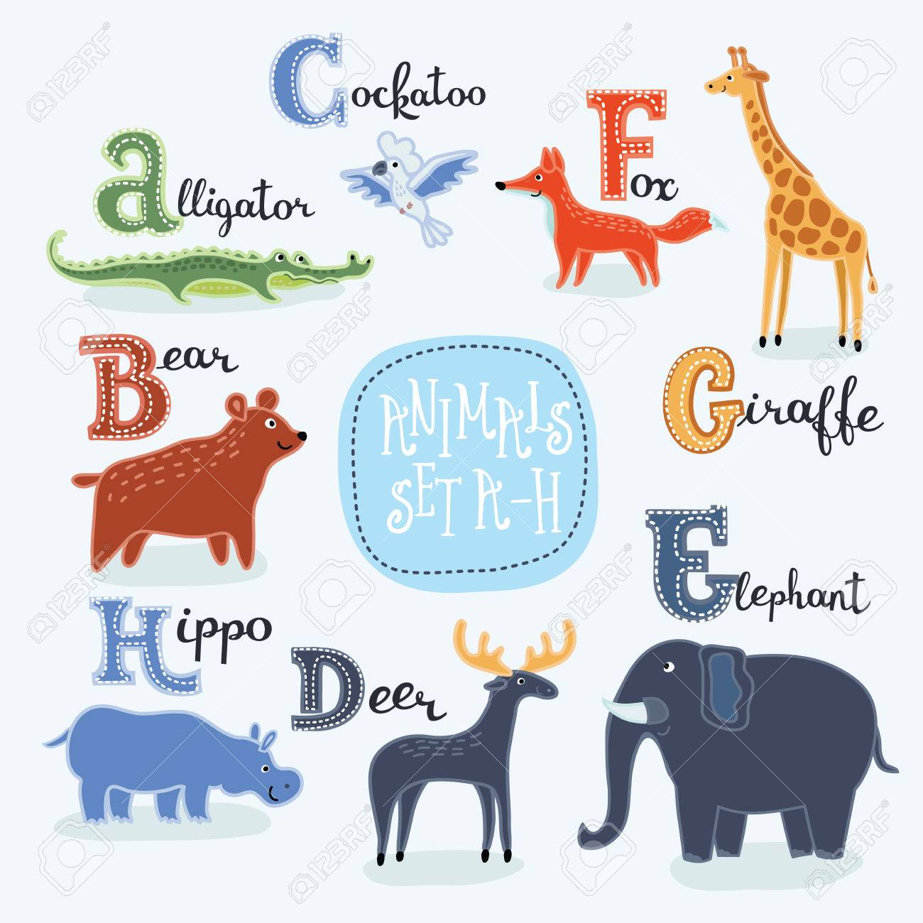 Image of: Vector Illustration Illustration Of Alphabet Animals From To With Latin Names Stock Vector 59834703 123rfcom Illustration Of Alphabet Animals From To With Latin Names