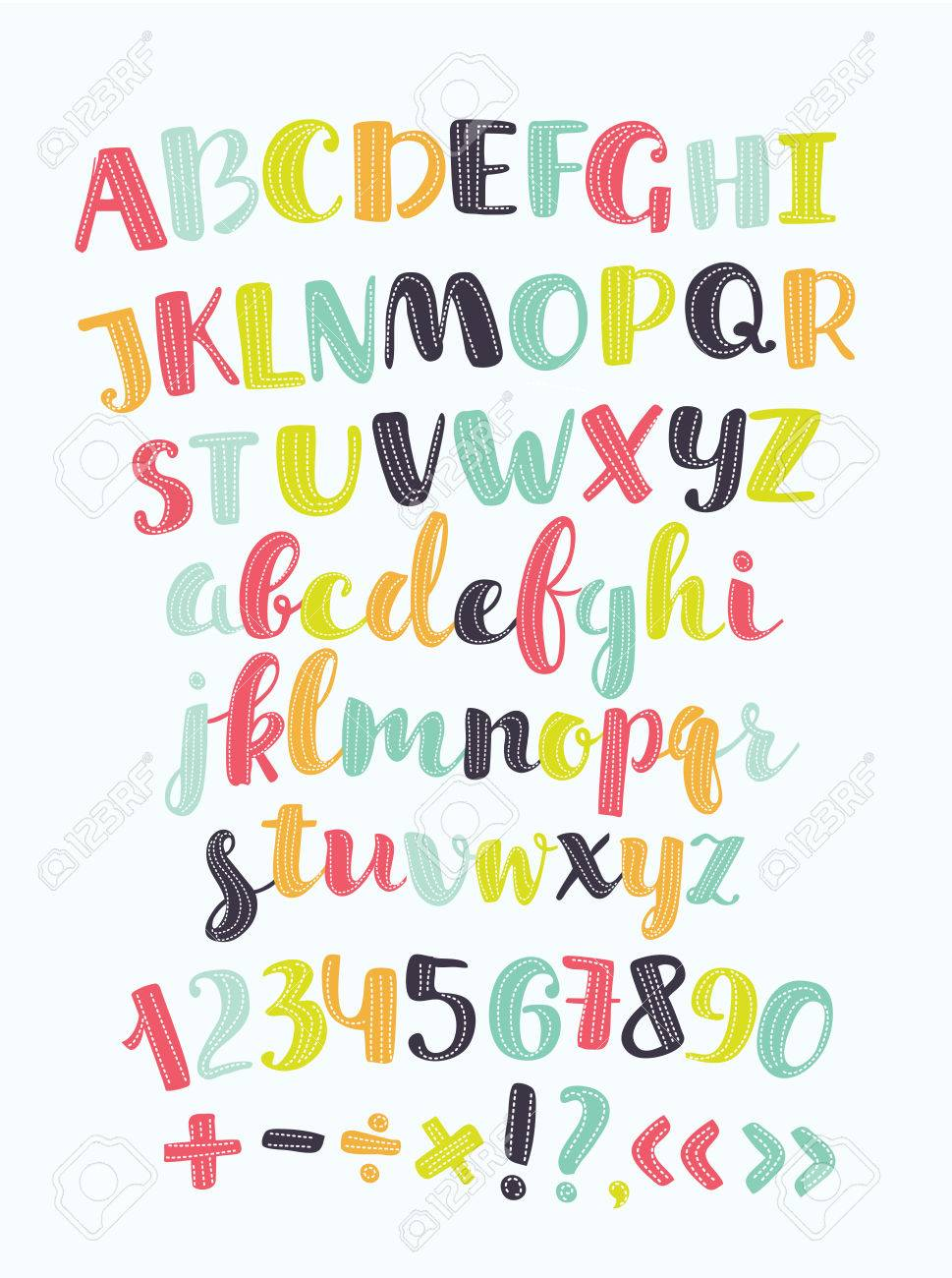 Vector cute alphabet colorful sticker alphabet with number and vector cute alphabet colorful sticker alphabet with number and plus minus division multiplication altavistaventures Images