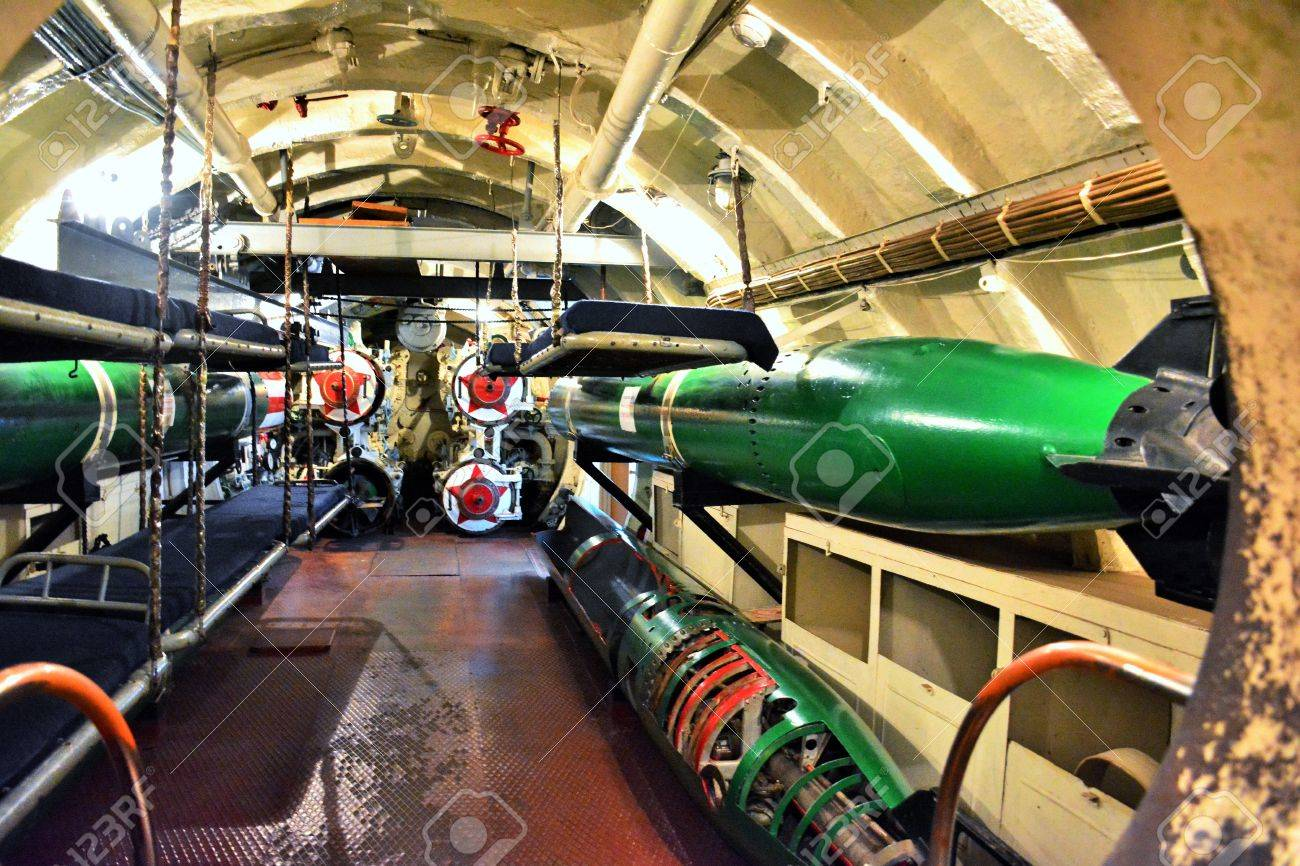 Russian Submarine Torpedo Room. Military Museum In Vladivostok. Stock  Photo, Picture And Royalty Free Image. Image 60277301.