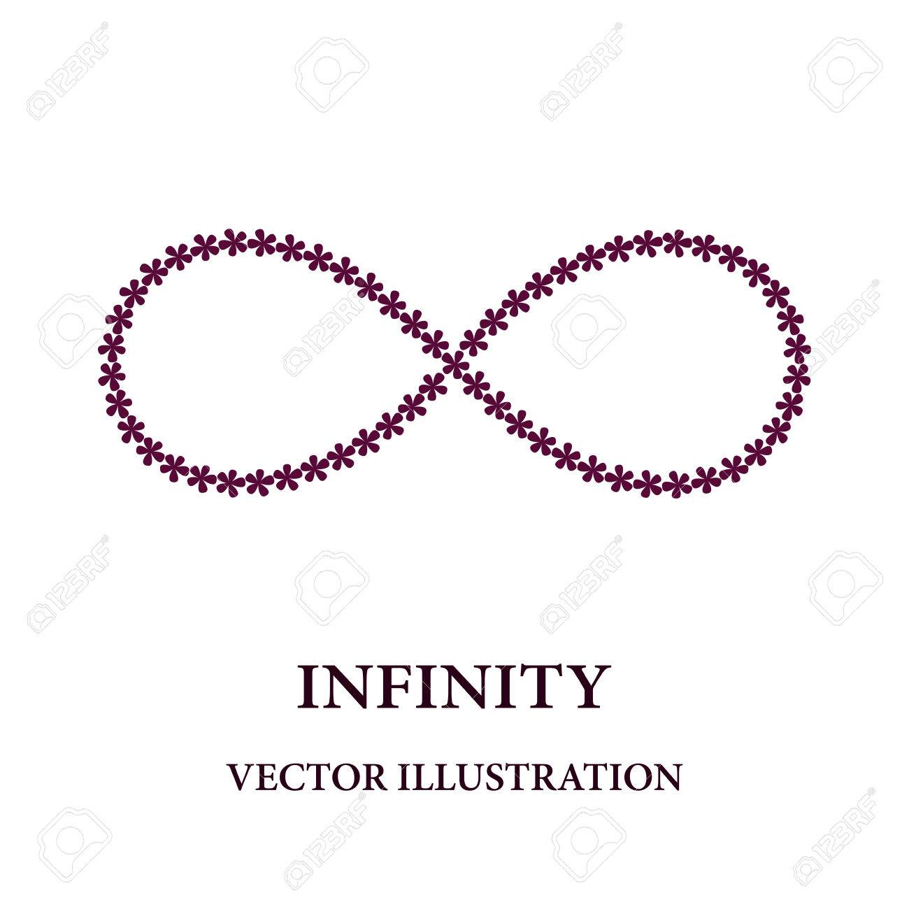 Abstract infinity symbol consisted of little flowers royalty free abstract infinity symbol consisted of little flowers stock vector 62188606 buycottarizona