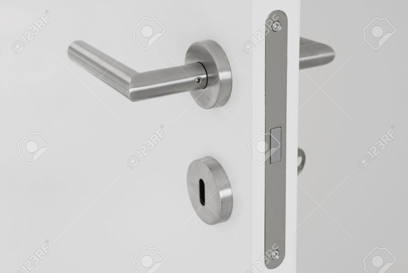 modern door handles. Modern Door Handle On White Open Stock Photo - 28416737 Handles