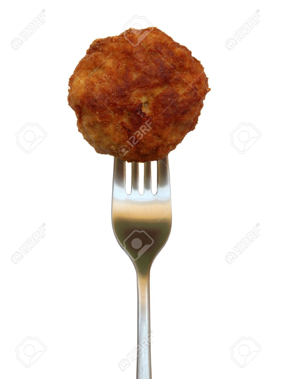 isolated fried meatball on white - 10030298