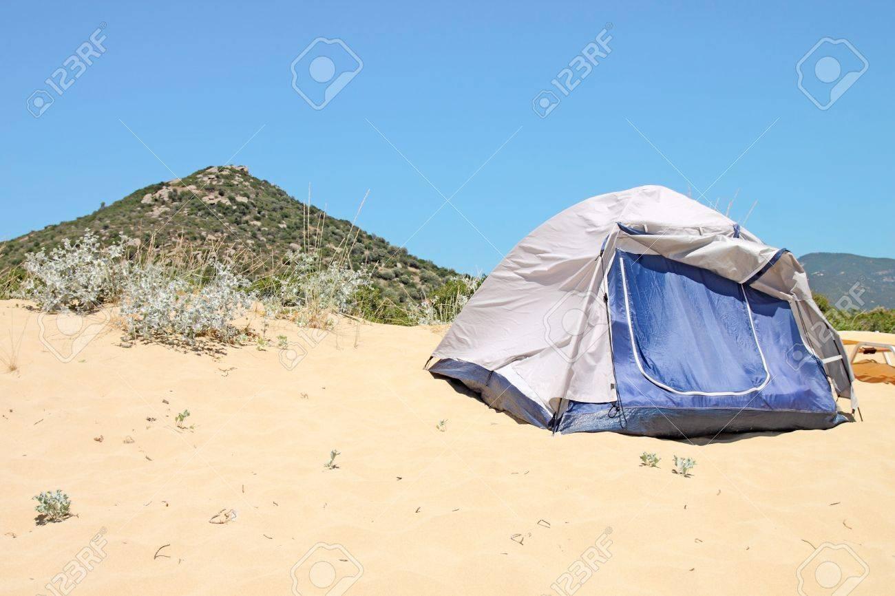 single tent on beach Stock Photo - 14374306 & Single Tent On Beach Stock Photo Picture And Royalty Free Image ...