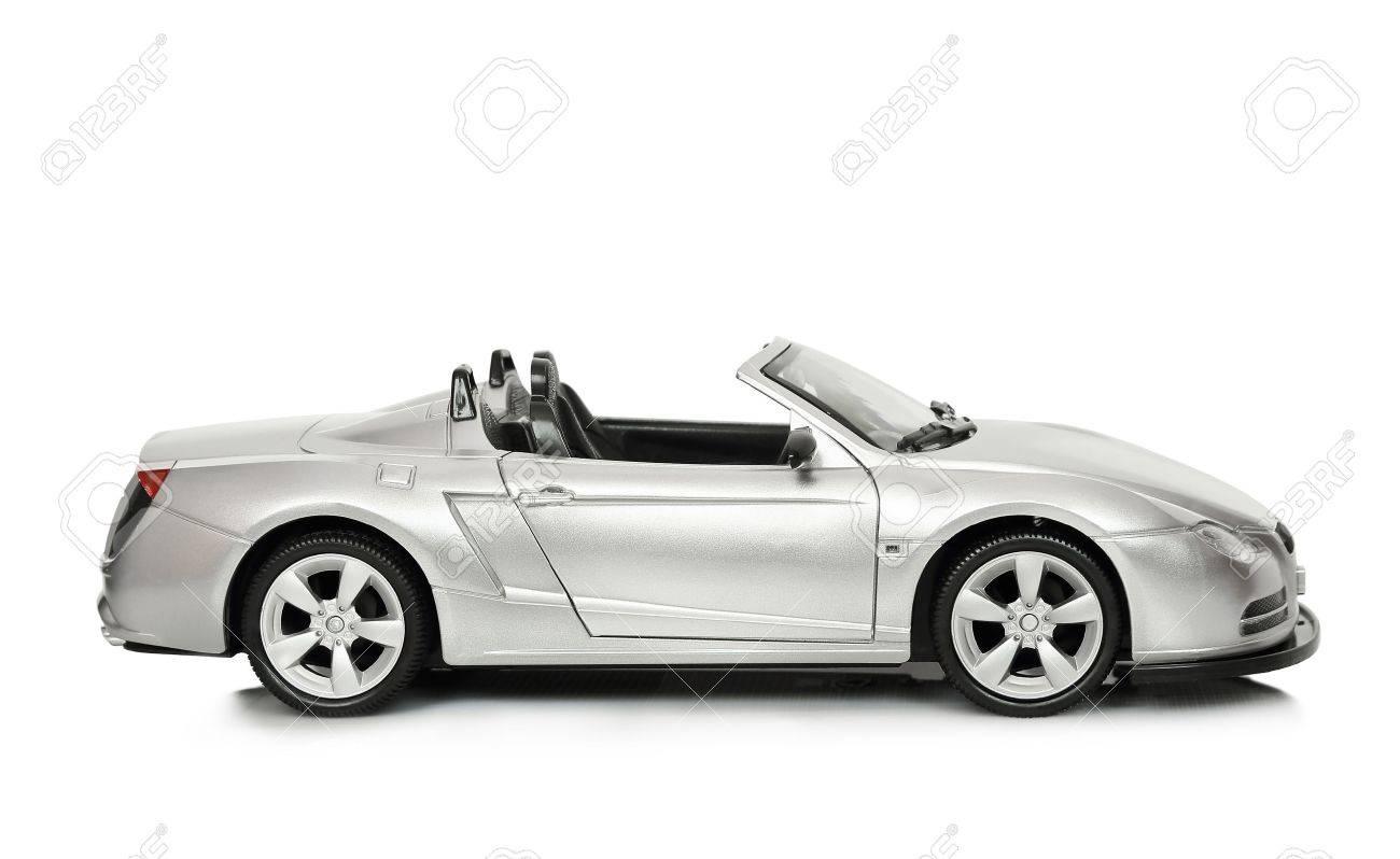 convertible toy car on white Stock Photo - 18291819