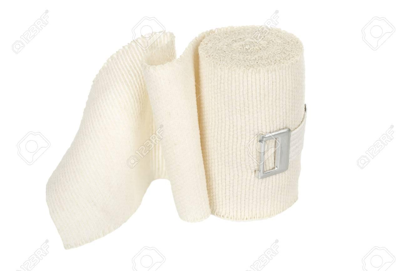 elastic bandage isolated on white - 31280556