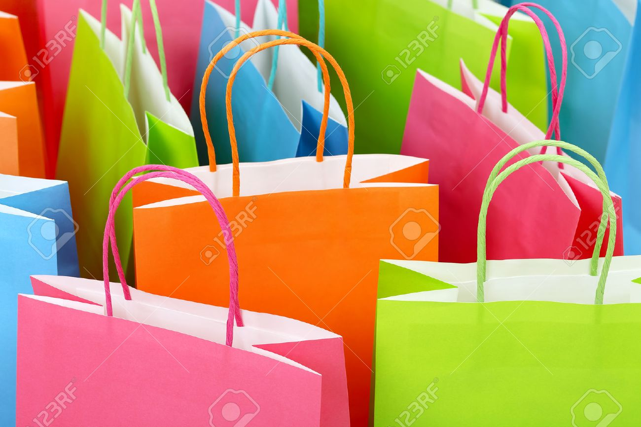 close up of colorful paper shopping bags stock photo picture and