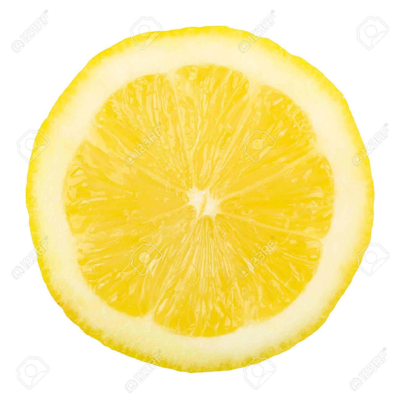 macro of lemon slice isolated on white - 54981910
