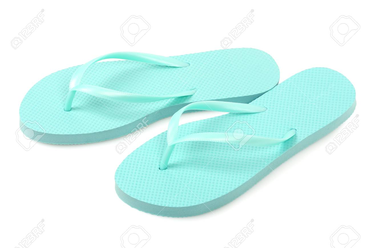 1ca6dca4f5c6 pair of flip flops isolated on white Stock Photo - 78421534