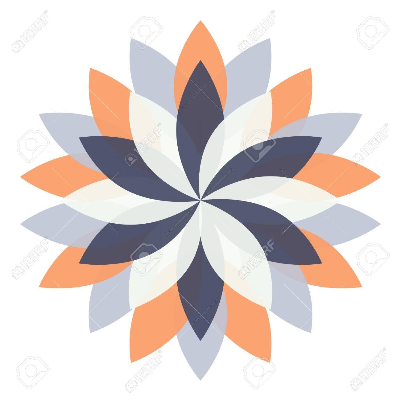 Beautiful Lotus Flower Color Wheel Mandala Oriental Round Element