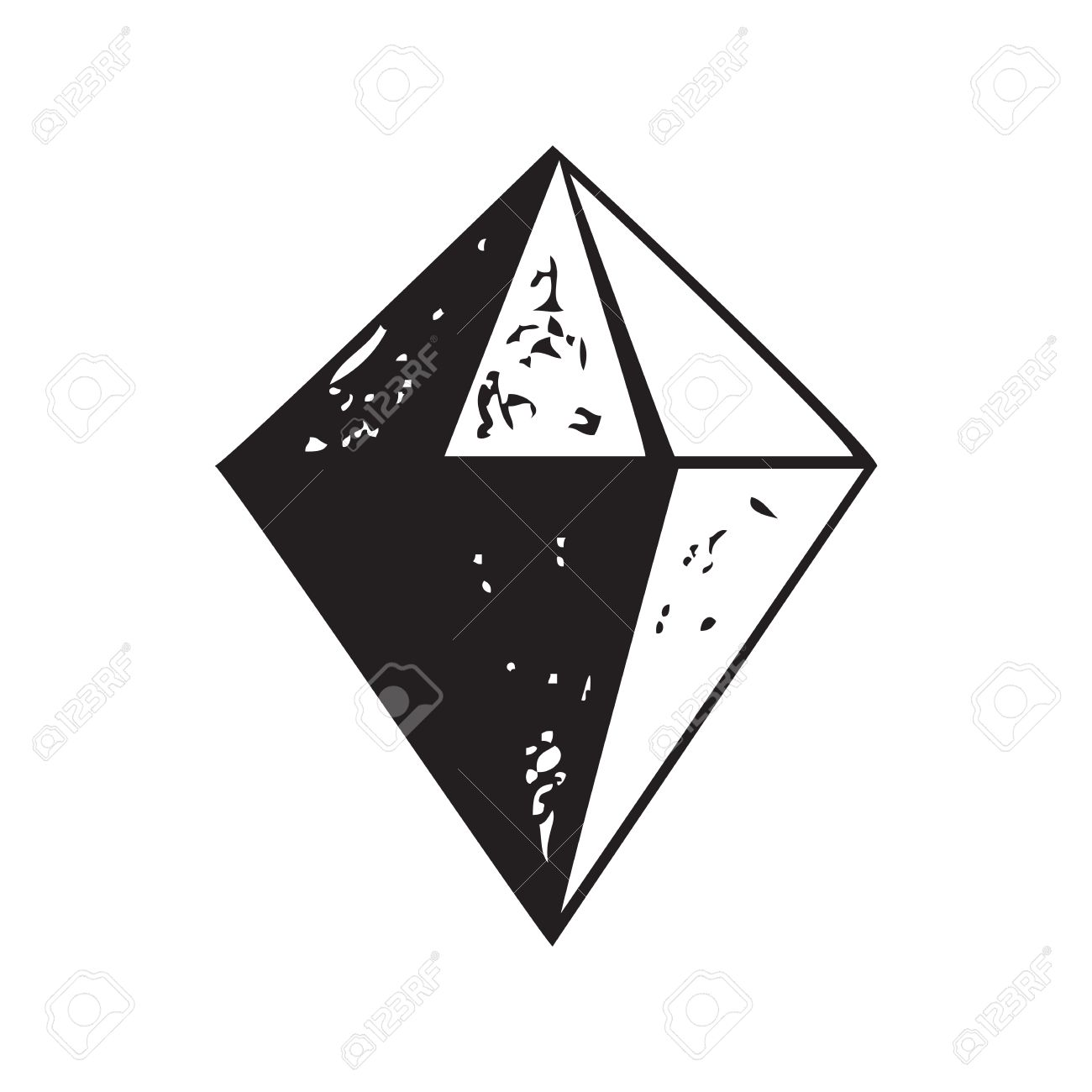diamond shape icon isolated vector illustration royalty free