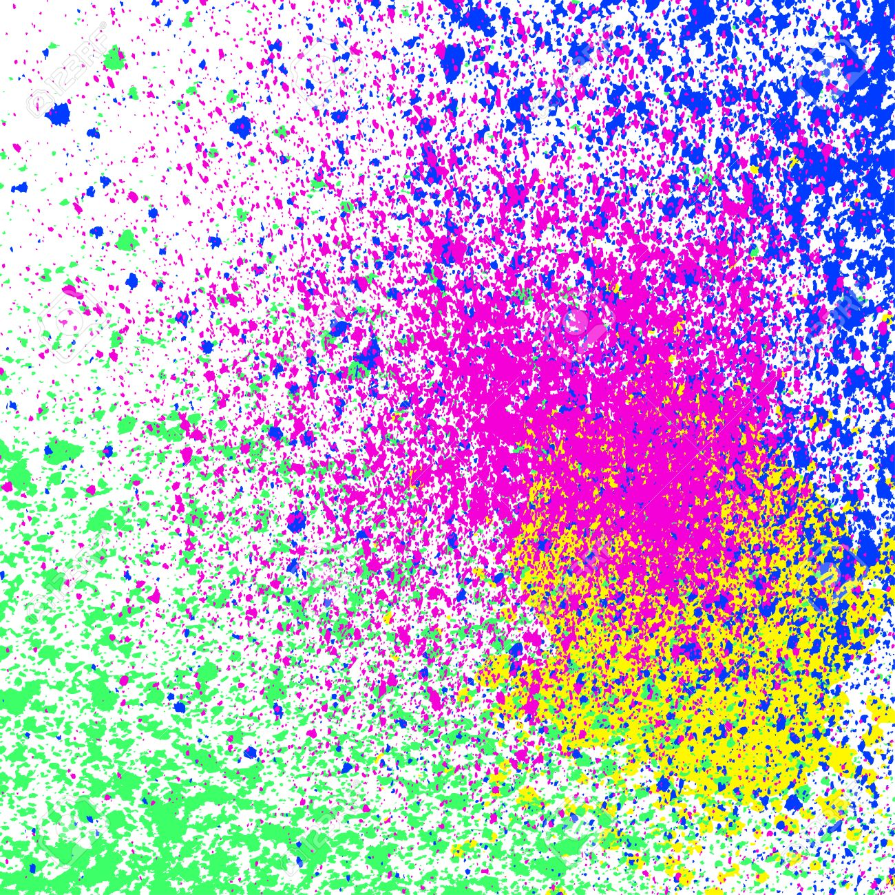 Colorful Acrylic Paint Splatter, Blob On White Background. Neon ...