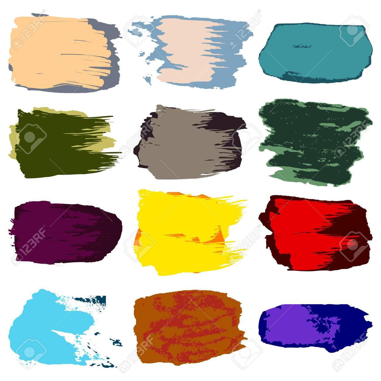 Vector Coup De Pinceau La Tache De Peinture Acrylique Abstrait