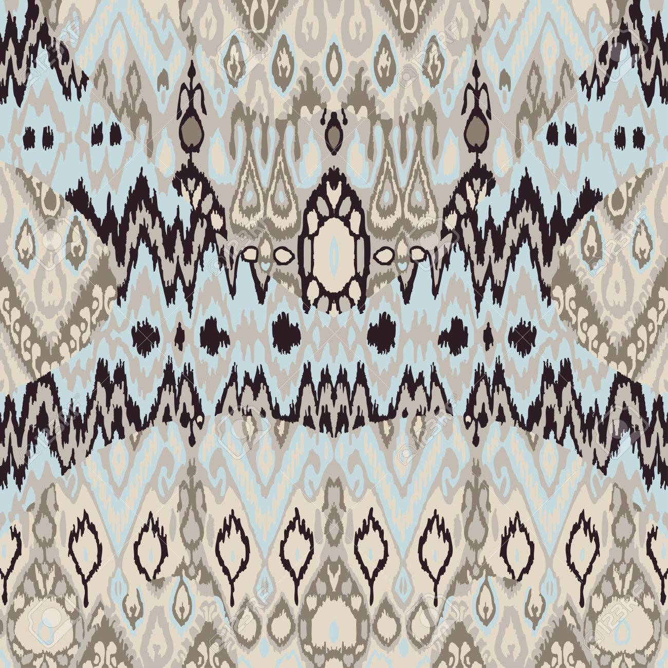 Ethnic Tribal Carpet, Plaid Pattern Fabric Wrapping, Floor Tile ...