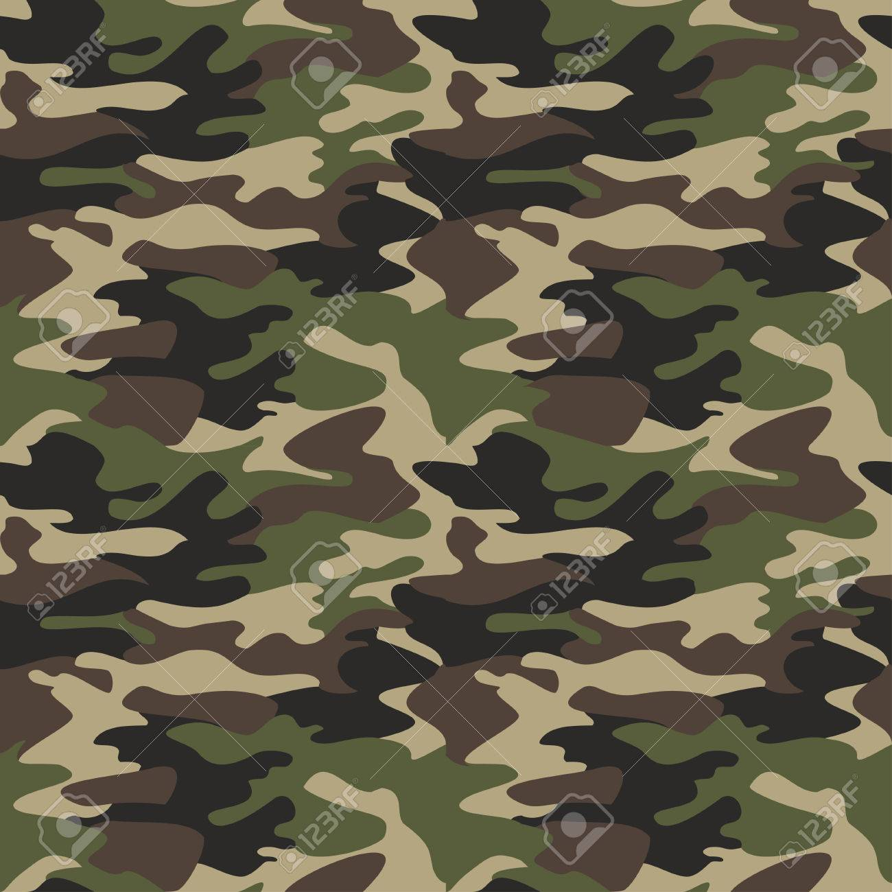 camouflage pattern background seamless vector illustration classic