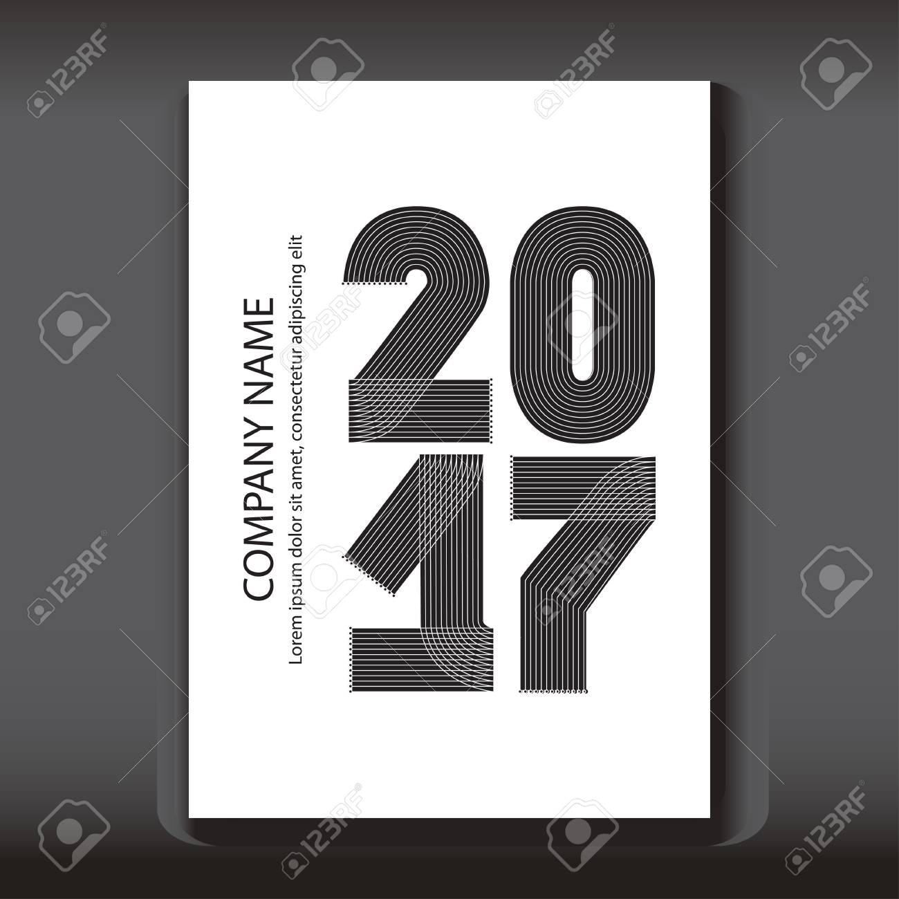 Cover annual report numbers 2017 modern design on blue background cover annual report numbers 2017 modern design on blue background year 2017 in thin biocorpaavc Image collections