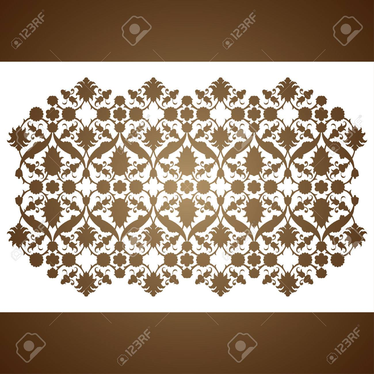 Laser cut floral arabesque ornament pattern vector template laser cut floral arabesque ornament pattern vector template cutting wedding invitation greeting card kristyandbryce Images