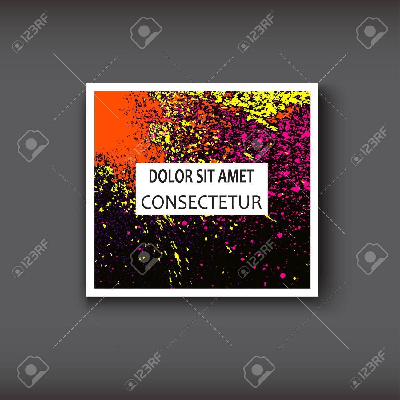 Couleurs Fluides De Peinture Texture Dcorative Des Milieux Sombres Illustration Vecteur Modle Branch Pour Flyer Carte Visite Affiche