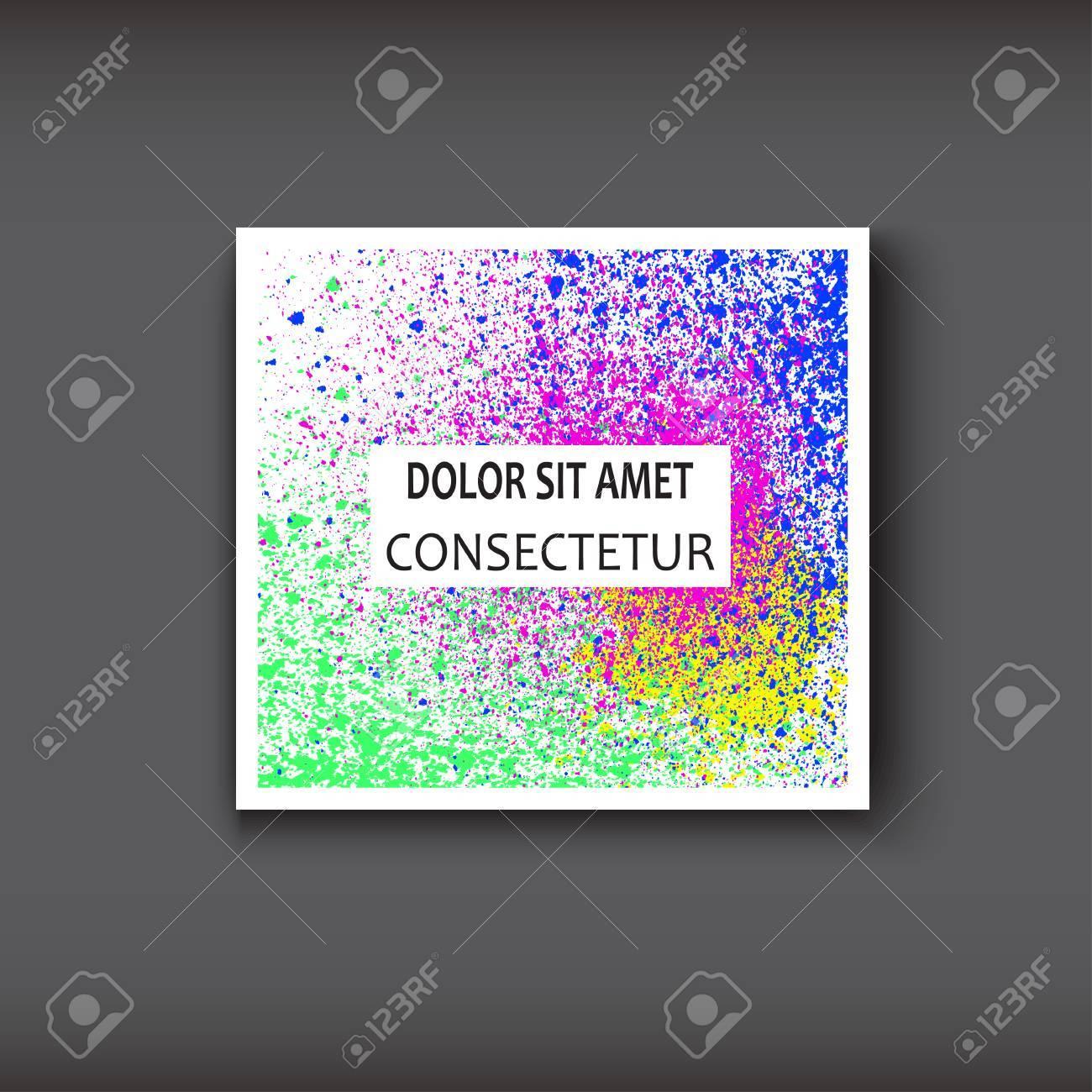 Couleurs De Peinture Dcorative Texture Fluide Blanc Illustration Vecteur Modle Branch Pour Flyer Carte Visite Affiche Manuel Bannire