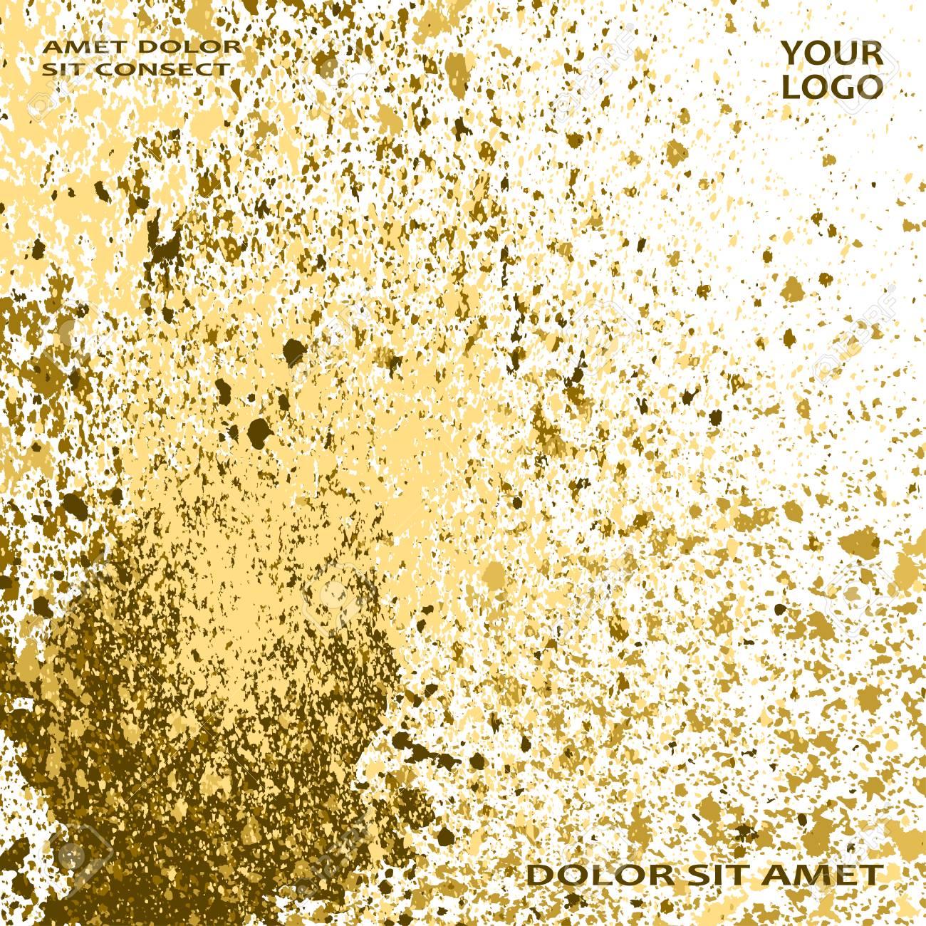 Neon Gold Explosion Paint Splatter Artistic Cover Frame Design