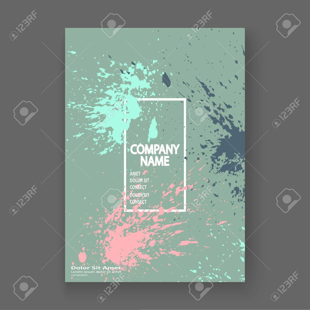 Pastel Explosion Paint Splatter Artistic Cover Frame Design