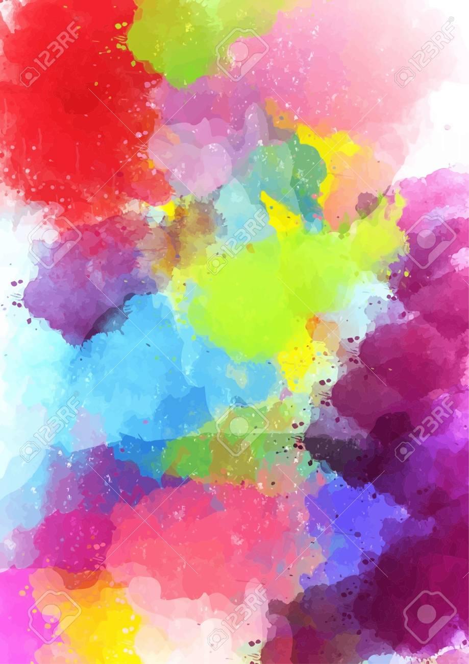 Hintergrund Der Abstrakten Kunst. Digitale Zeichnung. Farbtextur ...